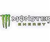 Наклейка   логотип   MONSTER ENERGY   (26x7см)   (#5533)