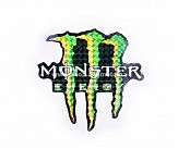 Наклейка   логотип   MONSTER ENERGY   (12x11см, голограмма)   (#7312B)