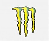 Наклейка   логотип   MONSTER ENERGY   (27х18см)   (#7312A)