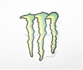Наклейка   логотип   MONSTER ENERGY   (21х16см)   (#7312F)