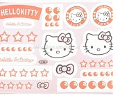 Наклейки (набор)   HELLO KITTY   (23х17см)   (#5979)