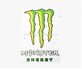Наклейка   логотип   MONSTER ENERGY   (17х13см)   (#7312)