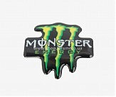 Наклейка   логотип   MONSTER ENERGY   (8x8см, силикон)   (#1)   (#SEA)