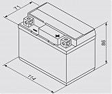 Аккумулятор сухозаряженный AGM 3Ah 40А BOSCH 0092M60010 114x71x86