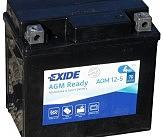Аккумулятор залитый и заряженный AGM 4Ah 70A EXIDE SLA12-5 = AGM12-5 113x70x105