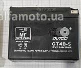 АКБ 12V 2,3А заливной , Suzuki (114x39x87, черный, mod:GT 4B-5) (+электролит)