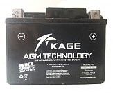 Аккумулятор сухозаряженный AGM 3,5Ah 45A 50A KAGE KGX4L-BS 113x70x86