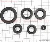 Viper - V200-R2 Сальник двигателя к-кт 6шт CB/CG (14x28x7; 22x35x7; 34x50x7,5; 6,5x14,5x7; 16x28x7; 20x34x7)