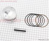 Loncin- LX200GY-3 Поршень, палец, кольца к-кт CG200сс 63мм STD (палец 15мм) (без штопорных колец)
