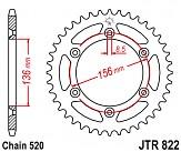 Звезда задняя легкосплавная JT JTA822.50BLU 50x520